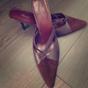 Leather Stiletto Mules